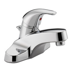 Delta Single Handle Lavatory Faucet - P136LF - Sensible styling that complements any home.