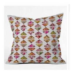 """DENY Designs - Bianca Green These Diamonds Are Forever Throw Pillow - Wanna transform a serious room into a fun, inviting space? Looking to complete a room full of solids with a unique print? Need to add a pop of color to your dull, lackluster space? Accomplish all of the above with one simple, yet powerful home accessory we like to call the DENY Throw Pillow! Features: -Bianca Green collection. -Top and back color: Print. -Material: Woven polyester. -Sealed closure. -Spot treatment with mild detergent. -Made in the USA. -Closure: Concealed zipper with bun insert. -Small dimensions: 16"""" H x 16"""" W x 4"""" D, 3 lbs. -Medium dimensions: 18"""" H x 18"""" W x 5"""" D, 3 lbs. -Large dimensions: 20"""" H x 20"""" W x 6"""" D, 3 lbs."""