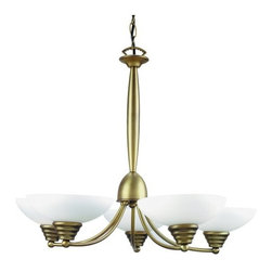 "Lite Source - Lite Source LS-14145 5 Light Up Lighting Chandelier Maestro Collection - 5-Lite Ceiling LampDraw attention to your ceiling with this masterfully crafted bronze finish 5-lite ceiling fixture and 2-lite wall lamp. Features bowl shaped frosted glass shade, ridge trim, and decorative orbs. Brings class to the dullest of rooms.60W x5 Incandescent G Type Bulbs(Bulbs Included)20"" Height35""Chain Length Adjustable24.5"" Diameter (Fixture)8"" Diameter Glass ShadeShade Dimensions: 8"""