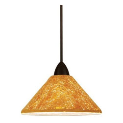 WAC Lighting - WAC Lighting MP-559  1 Light Down Lighting Canopy Mount Pendant Micha C - WAC Lighting MP-559 Art Deco / Retro 1 Light Down Lighting Canopy Mount Pendant from the Micha CollectionHand crafted from hundreds of Individually pieces of crushed glass, the new Shine Collection glimmers with light in individually unique patterns and textures. Whether a sparkling, star lit sky, a warm summers sun or the frost of an early winters morning the Micha family of shades brings the comforting warmth of nature into your homeSpecifications: