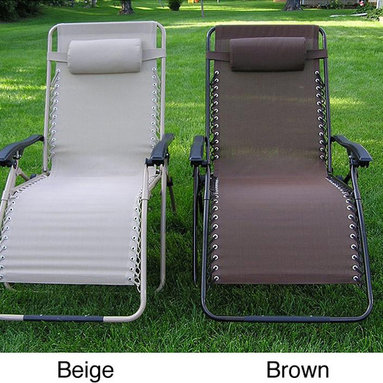 None - Zero Gravity Extra Wide Recliner Lounge Chair - Enjoy a relaxing seat in your yard or out on your patio with this extra-wide zero-gravity recliner chair. The headrest pillow and NASA-recognized zero-gravity design help create additional support,reducing stress and relieving muscle tension.