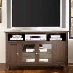 """Hammary - Enclave Entertainment Console in Sable Finish - """"Find your place. Find your niche. Find your enclave, with Hammary's appealing new """"""""Enclave"""""""" collection."""