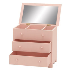 """Benzara - Wood Jewelry Box in Dainty Pink Color with Beautiful Design - Flaunting an attractive design, this elegantly designed Wood Jewelry Box is perfect to keep valuables safely. Decorated with a dainty pink color, this jewelry box can be easily set atop dressers or tabletops to keep jewelry for daily use close at hand. This charmingly designed jewelry box makes for a wonderful gift to loved ones. This jewelry box resembles a chest of drawers and features spacious compartments to hold jewelry and accessories in a neat, organized manner. Hinged lid offers easy access to the top drawer and while the smooth-glide drawers enhance ease of use. Designed from top quality grade wood, this jewelry box ensures durability and long-lasting performance. This jewelry box is a perfect gift on special occasions like birthday and housewarming functions.; Durability and long-lasting performance; Jewelry box resembles a chest of drawer; Smooth-glide drawers for ease of use; Wonderful gift to loved ones; Weight: 4.63 lbs; Dimensions:10""""W x 6""""D x 10""""H"""
