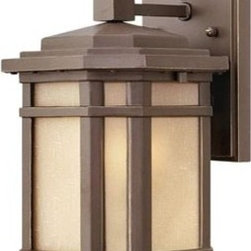 Hinkley Lighting 1270Oz-Es Small Outdoor Wall Light Cherry Creek 1 Light In Oil - You can not beat the quality and styling of Hinkley lighting. This is a great example of craftsman / mission styling at its best. This beautiful light comes in 3 different lamping options. LED, Incandescent and Energy saving that has a compact fluorescent bulb.