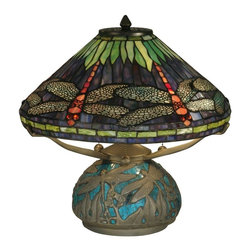 Dale Tiffany - Dale Tiffany Table Lamp Dragonfly Shade & Base - Product Details