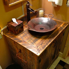 traditional bathroom vanities and sink consoles by Rory's Rustic Furniture