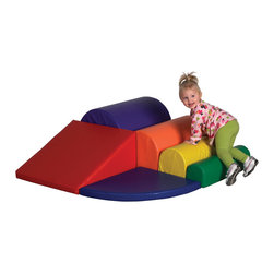 Ecr4kids - Ecr4Kids Soft Zone Watch Me Go Climber - A beginner climber with bright, primary colors and shapes that creates a center of attention for any classroom. Soft, sturdy, polyurethane foam shapes are covered in reinforced, phthalate-free vinyl in bright primary and secondary colors to create a comfy and stimulating learning environment. Designed specifically for use against a wall to ensure a safe and fun playtime  not intended for free-standing use.