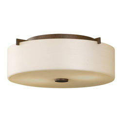 Murray Feiss - Murray Feiss Sunset Drive Flush Mount Ceiling Fixture in Corthian Bronze - Shown in picture: Sunset Drive Flushmount in Corinthian Bronze finish with Pearl Glass