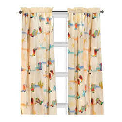 Room Magic - Room Magic Cowboy Window Panels Curtain Set - RM16-CB - Shop for Window Treatments from Hayneedle.com! The Room Magic Cowboy Window Panels Curtain Set coordinates with the series' bedding set knobs and accessories for a complete matching look. This adorable designer fabric has cacti sheriff badges hats and colorful western boots of every kind. At 84 inches long and 59 inches wide the two panels perfectly cover even large windows.About Room MagicRoom Magic doesn't just make children's furniture; they design furniture specifically for children using the magic of childhood imagination and creativity as a guiding principle. Beginning in 1999 with graphic designer Karen Andrea's attempt to create a truly lively and unique room for her five-year-old daughter Sarah the company has maintained a focus on using bright colors and unique themes that steer clear of cliched motifs. Bright and bold playful cut outs decorate the quality hardwood pieces finished with beautiful stains. With collections that are geared both to boys and to girls Room Magic provides the furniture accessories and bedding you need to bring the magical fun of childhood to your kids' rooms.