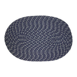 None - Indoor/ Outdoor Dark Blue Braided Lemonade Rug (1'8 x 2'6) - Add interest to your home decor with a weather-proof, indoor/outdoor rug Casual dark blue rug features tightly braided design Area rug is crafted of anti-mildew polypropylene