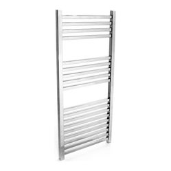 Hudson Reed Designer Chrome Flat Panel Heated Towel Rail 38.35 inch x 17.75 inch