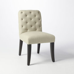 Elton Dining Chair - For a traditional look, the tufted back on this upholstered chair adds a sense of elegance to any table. Its generous proportions make it so comfy that your guests won't want to leave!