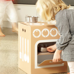flatout frankie - Little Kitchen - Everything but the kitchen sink! This playful pop-up is the ideal place for little ones to explore their culinary imaginations. It's also ecofriendly and easy to pack for storage and travel.