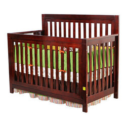 Mia Moda - Jillian Kingston 4-in-1 Convertible Crib - Features: -Convertible crib.-Functional three position mattress support system.-Flat panels.-Lead free.-Simple horizontal and vertical lines.-Converts to a toddler bed, a day bed and full size bed.-Partner with any nursery decor.-Meets and or exceeds all applicable safety standards.-Full bed conversion rails and mattress sold separately.-Safety toddler bed rail (included).-Non-toxic finish.-Distressed: No.Dimensions: -32'' H x 46'' W x 50'' D, 30 lbs.-Overall Product Weight: 30 lbs.Warranty: -30 Days warranty.