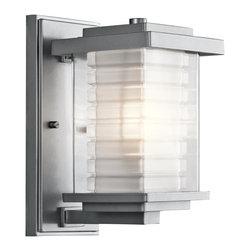 Kichler Lighting - Kichler Lighting 49364PL Ascari Platinum Outdoor Wall Sconce - Kichler Lighting 49364PL Ascari Platinum Outdoor Wall Sconce