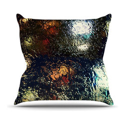 "Kess InHouse - Robin Dickinson ""Blinded"" Water Black Throw Pillow (Outdoor, 16"" x 16"") - Decorate your backyard, patio or even take it on a picnic with the Kess Inhouse outdoor throw pillow! Complete your backyard by adding unique artwork, patterns, illustrations and colors! Be the envy of your neighbors and friends with this long lasting outdoor artistic and innovative pillow. These pillows are printed on both sides for added pizzazz!"