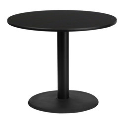 Flash Furniture - Flash Furniture 36 Inch Round Dining Table w/ Black or Mahogany Reversible Lamin - Complete your restaurant, break room or cafeteria with this reversible table top. The reversible laminate top features two different laminate finishes. This table top is designed for commercial use so you will be assured it will withstand the daily rigors in the hospitality industry. [XU-RD-36-MBT-GG]