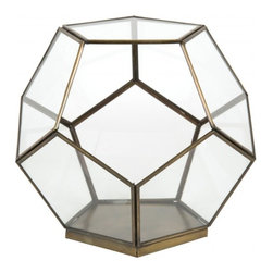 Geo Terrarium - I really like the idea of adding fresh greens to your springtime brunch. Flank each end of the table with one of these geo terrariums. They add instant modern geometry and the beautiful greens of spring.