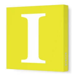 "Avalisa - Letter - Upper Case 'I' Stretched Wall Art, 28"" x 28"", Yellow - Spell it out loud. These uppercase letters on stretched canvas would look wonderful in a nursery touting your little one's name, but don't stop there; they could work most anywhere in the home you'd like to add some playful text to the walls. Mix and match colors for a truly fun feel or stick to one color for a more uniform look."