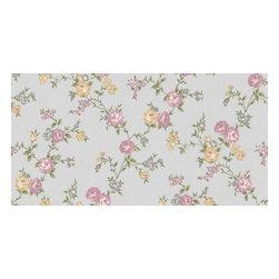 Graham and Brown - Rose Cottage Wallpaper - Silver/Heather - Rose Cottage wallpaper - this small scale climbing rose wallpaper compliments the other floral papers in this collection.