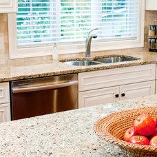 Traditional  New Venetian Gold Granite Countertops