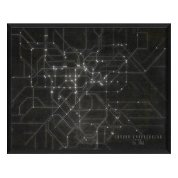 The Artwork Factory - London Underground Framed Map - Made in the USA.