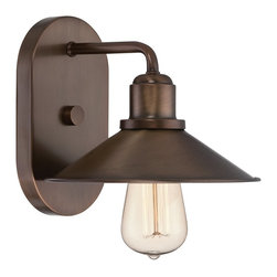 Designers Fountain - Designers Fountain Newbury Station Bath / Vanity / Wall Sconce with Metal Shade, - Designers Fountain Newbury Station Bath / Vanity / Wall Sconce with Metal Shade, Old Satin Brass X-BSO-10458