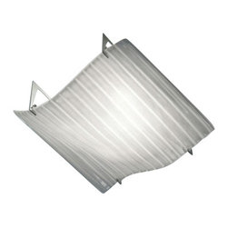 "AVMazzega - AVMazzega Flag PL2066 Ceiling Lights - The Flag Ceiling    Light by AVMazzega has been designed by  M & M. Flag ceiling light   feature a ribbed white glass diffuser and polished chrome finish.   Available in pendant light, wall sconce, ceiling light and  table  lamp version.  Suitable for every kind of living, they will add  glamour  and elegance to  your home .   Product Details: The Flag Ceiling   Light by AVMazzega has been designed by  M & M. Flag ceiling light  feature a ribbed white glass diffuser and polished chrome finish.  Available in pendant light, wall sconce, ceiling light and table  lamp version.  Suitable for every kind of living, they will add glamour  and elegance to  your home .   Details:                                      Manufacturer:                                      AVMazzega                                                                  Designer:                                      M & M                                                                  Made in:                                     Italy                                                     Dimensions:                                     Widht: 16.6 "" (42 cm) X Lenght: 16.6"" (42 cm)                                                                  Light bulb:                                      4 x E14 Max 60W                                                                   Material:                                      Murano glass"
