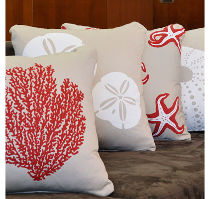 tropical pillows Crab Organic Cotton Eco Art Throw Pillows