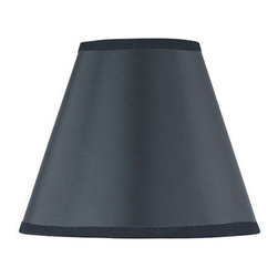 "Lite Source - Black Chandelier Shade 3"" Top x 6"" Bottom x - This Chandelier Lamp Shade by Lite Source will refresh the decor of your home with its elengant yet simple style."
