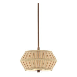 Dolan Designs Lighting - Two-Light Mini-Pendant with Pleated Shade - 1032-206 - Contemporary / modern classic bronze 2-light mini-pendant light. This mini-pendant comes with one six-inch and three 12-inch stem segments which allow adjustability in height between 15-1/4-inch to a maximum of 51-1/4-inches. The ceiling canopy measures 6-1/2-inches in diameter. Takes (2) 60-watt incandescent A19 bulb(s). Bulb(s) sold separately. UL listed. Dry location rated.