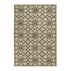 Couristan Fresco Summer Daisy Indoor / Outdoor Area Rug - Make your outdoor living space as stylish as your indoor one with the Couristan Fresco Summer Daisy Area Rug. This area rug is made of 100% fiber-enhanced courtron polypropylene that resists mold and mildew and feels soft underfoot. This rug comes in your choice of size and shape. It features a stylized floral pattern in neutral sand, chocolate, and seagrass.About Couristan RugsThe renowned Couristan Rug Company is headquartered in Fort Lee, New Jersey. The company continues to take great pride in its 78 year-old commitment to excellence by weaving four key components - Trust, Style, Quality and Innovation into each and every product it imports or manufactures. This commitment has earned the company a long-standing and successful position in the floor covering industry while providing its customers with the highest levels of design, value and customer service.