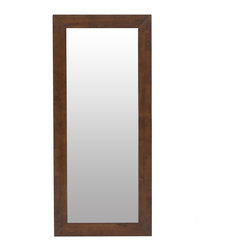 Bryght - Daffodil Cocoa Framed Full Length Mirror - The Daffodil full length mirror beautifully fuses the modern with the classic. Add this bright light reflecting accent piece to any wall to enhance a sense of space in your room. The Daffodil full length mirror can be hung vertically or horizontally.