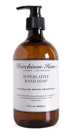 Murchison-Hume - Murchison-Hume  Superlative Liquid Hand Soap - Australian White Grapefruit - Our Superlative Hand Soap is blended with wheat proteins, chamomile, rose hip extracts and vitamins to buffer hands against dryness.
