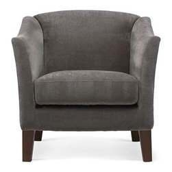 Melrose Accent Chair, Zinc - You can't go wrong with a plush chair in a soft, neutral fabric. It looks great across from a sofa or as seating in a bedroom or office.