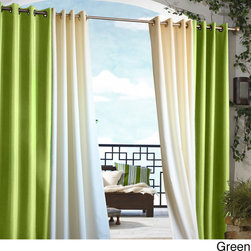None - Gazebo Grommet Top 96 inch Indoor/ Outdoor Curtain Panel - When you want to change the style of your outdoor furniture,these polyester 96-inch outdoor window panels will make any gazebo look its finest without much effort. The grommet ring construction makes each solid colored panel easy to adjust.