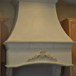 Stone hoods for kitchen - Old European stone stove hoods