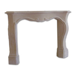 Distinctive Mantel Designs - Pachel Mantel, Stoney Ground - Classic, flowing lines and French inspired design set the Pachel Mantel apart.  The clean design is free from superfluous ornamentation, so the Pachel fits well with many traditional decorating styles.  Perfect for any fireplace destined to be the center piece of a room.