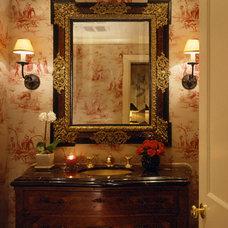Modern Powder Room by Donna Livingston Design