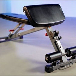XMark Commercial Ab - Hyperextension and Preacher Curl Weight Bench XM-7631 - Provides an excellent range of upper-body exercisesAdjustable bench to work upper, middle, and lower chestPreacher curl for arm workoutCan also use preacher curl for back support during dumbbell or barbell pressesBar catch on preacher curl gives you convenient way to rack bar after each setUse hyperextension at foot of bench to strengthen and stretch lower back and hamstringIdeal for dumbbell work; compatible with almost any smith machine and cageCommercial-quality 11-gauge steel construction with baked-on scratch-resistant powder-coat finishSkid-resistant feet4.33-inch vinyl-wrapped roller pads; 3-inch thick cushions covered in tear-resistant vinylRated for in-home or light institutional useAssembled weight: 79 lbs.Manufacturer's warranty included - see Product Guarantee for full detailsAbout XMark Fitness With decades of experience designing and producing fitness equipment for home and commercial use, X truly MARKs the spot with this fine Louisiana company! XMark's mission is to give folks undeniable results, outstanding prices, and great customer service and like any great fitness regimen, it's been a formula for success. Today, XMark Fitness leads the way in bars, benches, freeweights, MMA accessories and more due to their attention to detail and focus on quality construction and ergonomic designs that are comfortable to use. XMark Fitness' drive to redefine excellence has led to innovative products that fit any budget without sacrificing quality, exceeding the industry standard wherever possible to give you the best workout for your dollar! Best of all, their dedication to helpful customer service is unmatched so if you have a question regarding your home gym or your workout, there's a professional standing by to give you the answers you need to improve your lifestyle today.