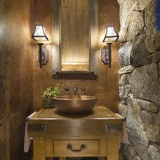Craftsman Powder Room by MWA, Inc
