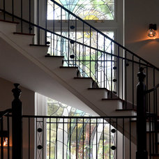 Traditional Staircase by David Buergler Architecture