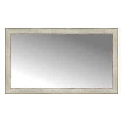 """Posters 2 Prints, LLC - 38"""" x 22"""" Libretto Antique Silver Custom Framed Mirror - 38"""" x 22"""" Custom Framed Mirror made by Posters 2 Prints. Standard glass with unrivaled selection of crafted mirror frames.  Protected with category II safety backing to keep glass fragments together should the mirror be accidentally broken.  Safe arrival guaranteed.  Made in the United States of America"""