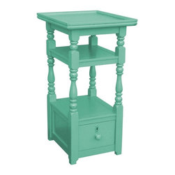 EuroLux Home - New Nightstand Blue Painted Hardwood Cottage - Product Details