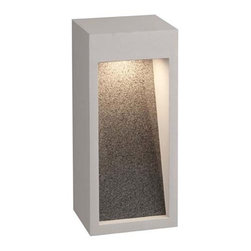 Philips - Philips | Starbeam Medium Outdoor LED Wall Sconce - Design by Philips Consumer Luminaires.The Starbeam Medium Outdoor LED Wall Sconce features a natural stone insert secured within a rectangular metal frame. When illuminated, the light produced cascades down Starbeam's stone surface to provide a wall washing effect, while also gently illuminating your modern outdoor space. Offered in graphite or bronze metal finishes. Shown in graphite.Features: