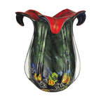 Dale Tiffany - New Dale Tiffany Vase Hand Blown Art Glass - Product Details