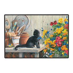 340-Gardener'S Helper Doormat - 100% Polyester face, permanently dye printed & fade resistant, nonskid rubber backing, durable polypropylene web trim on the porch or near your back entrance to the house with indoor and outdoor compatible rugs that stand up to heavy use and weather effects