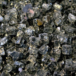 "American Fireglass Gray Reflective 1/2-in Fireplace Gems 1 lb - AFF-GRYRF12 American Fireglass Gray Reflective 1/2"" CRYSTAL BRILLANCE Fireplace Gems 1 lb Perfect for outdoor fire pits and fireplaces Provides unequaled versatility: available in a multitude of colors & sizes Glass Gems are tempered for long term heat exposure - Thanks to the special manufacturing process Fireglass Gems retain their color and actually burn cleaner than gas logs 1/2"" GRAY REFLECTIVE FIREGLASS is available in our 1/2"" Premium Collection. It is most appealing in a fireplace that has stone or rock surrounding the hearth or in a fire pit made of natural stone. We recommend mixing the Gray Fireglass with one of our darker Premium Colors such as Black Reflective which will compliment the lighter color. An Average 36"" Fireplace Takes Approximately 60 lbs. of gems An Average 42"" Fireplace Takes Approximately 80 lbs. of gems Lava granules can be used initially on the burner then covered with Fireglass Gems to reduce the amount needed Combine multiple gem colors for spectacular fire!"