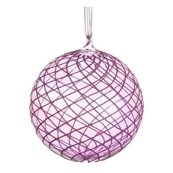 Silk Plants Direct - Silk Plants Direct Glass Glitter Swirl Mesh Pattern Ball Ornament (Pack of 6) - Silk Plants Direct specializes in manufacturing, design and supply of the most life-like, premium quality artificial plants, trees, flowers, arrangements, topiaries and containers for home, office and commercial use. Our Glass Glitter Swirl Mesh Pattern Ball Ornament includes the following: