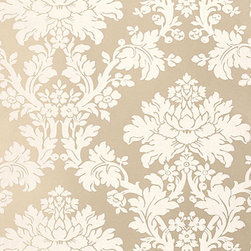 Schumacher - Tierni Damask Wallpaper, Champagne - This beautiful damask wall-covering is by F. Schumacher and comes in 5 beautiful color-ways and is featured in the Greenhouse Collection.